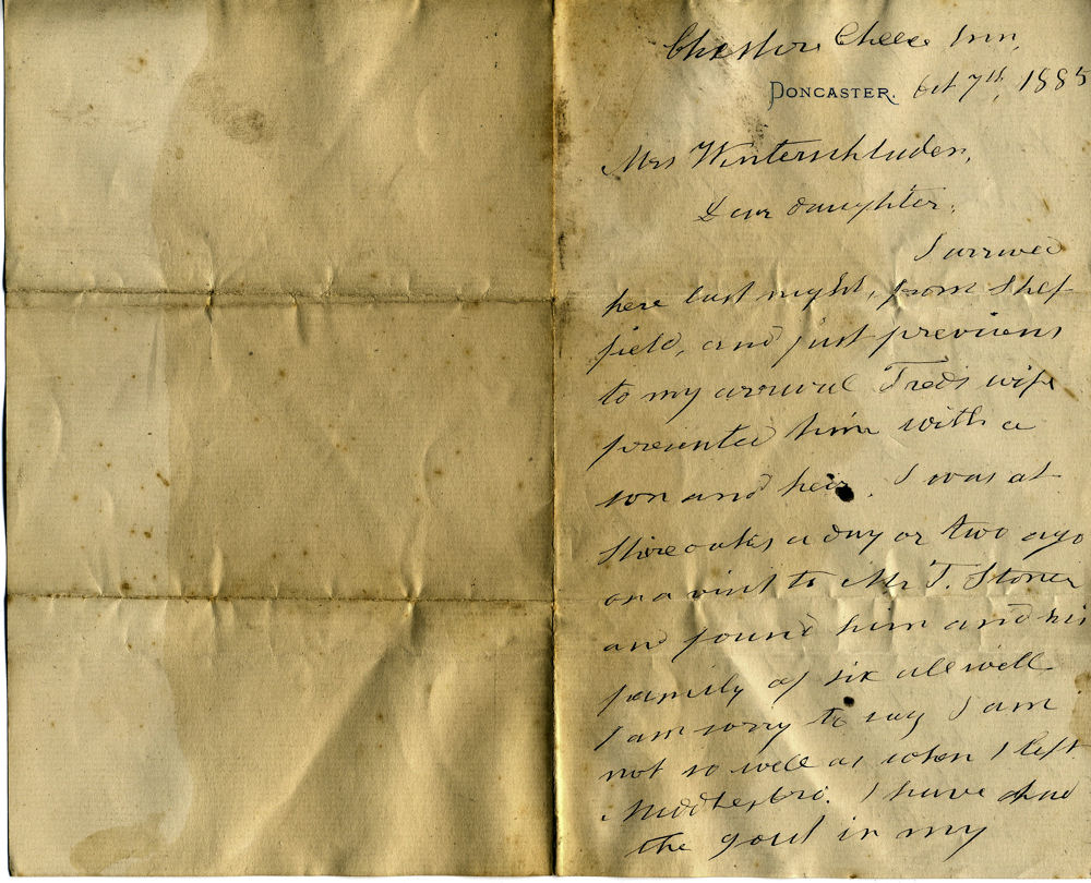 1885 Letter [side A]