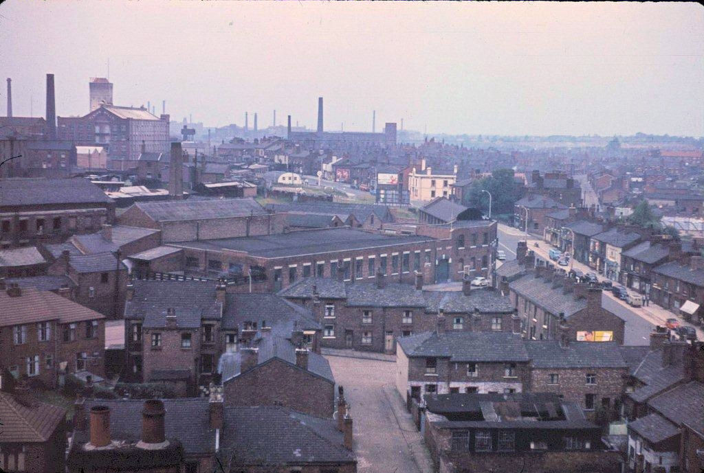 Lancashire Hill from the roof of Stockport Tech 1960