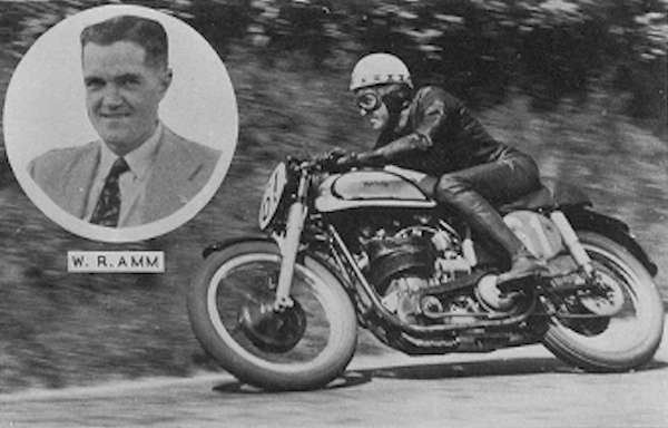 Ray Amm 1953 T.T. riding Norton