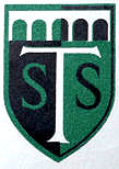 STS Coat of Arms black/white/green with symbolic viaduct