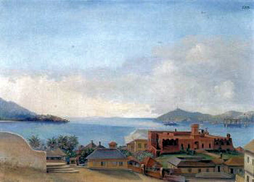 View from St.Thomas towards Christianfort by Fred Visby